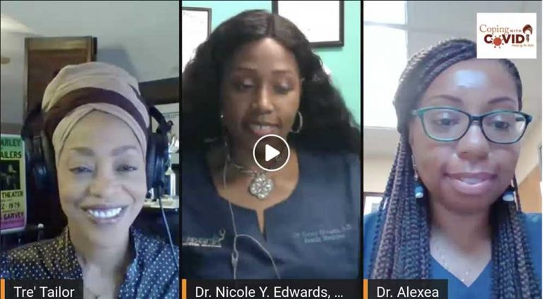Dr. Nicole discussing COVID on the Tre Tailor Show - June 2020